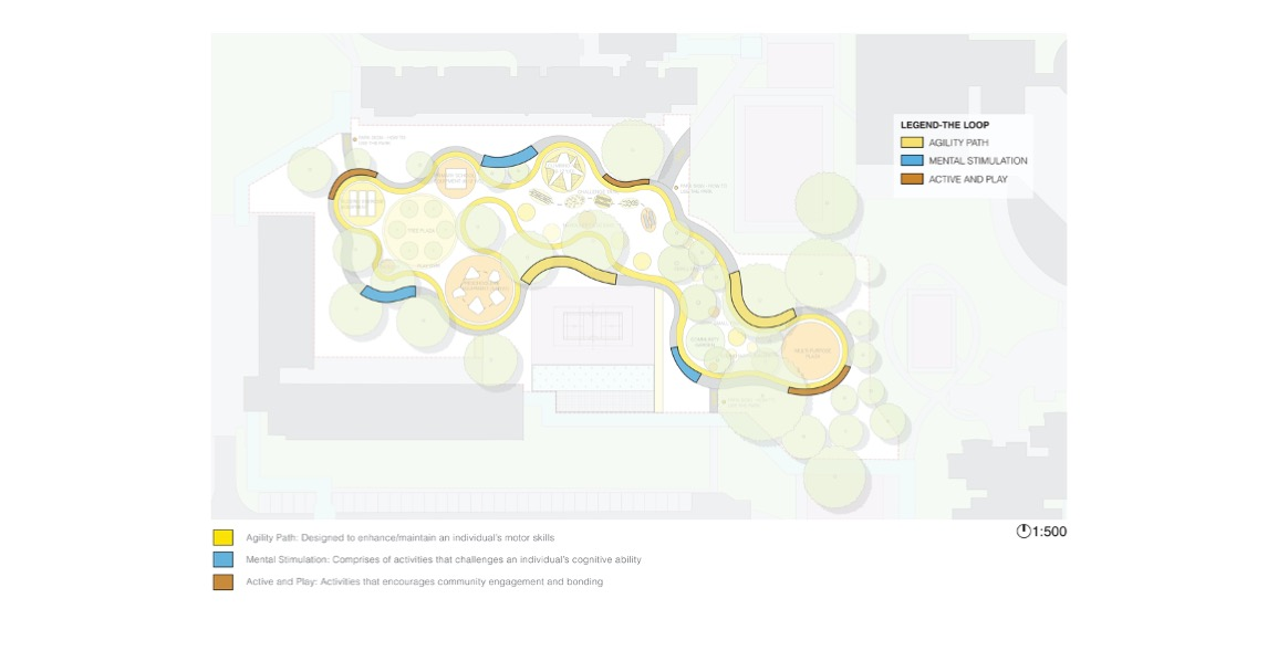 The various play opportunities and routes proposed for the Toa Payoh West neighbourhood by Tierra Design. Image credit: Tierra Design.