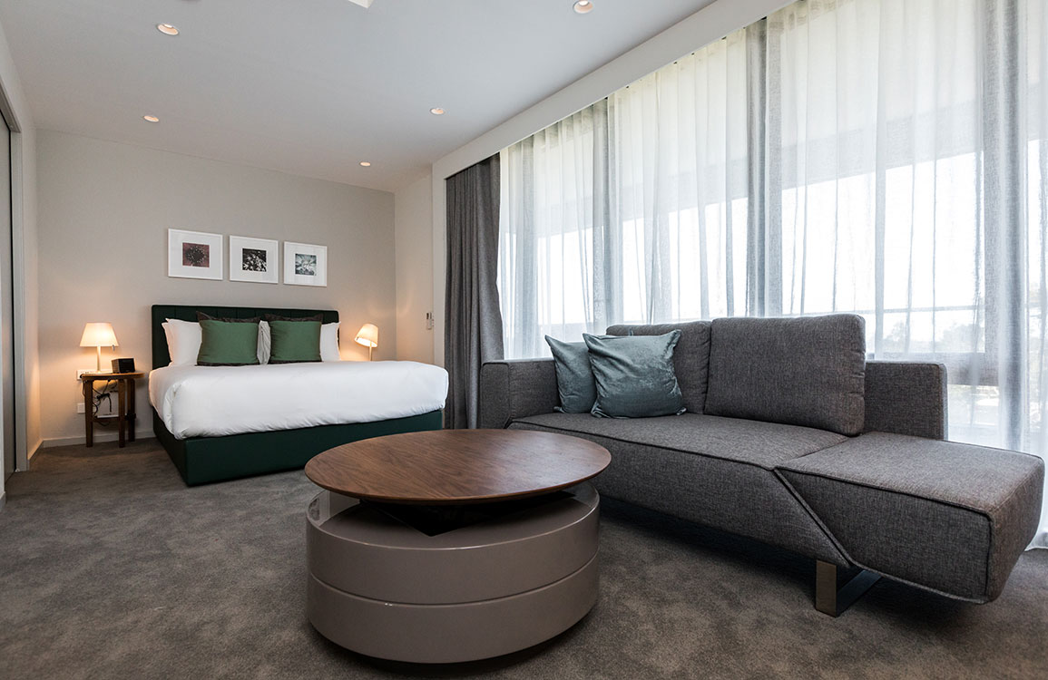 All guest rooms feature the Cierre Thin bed that offers maximum, luxurious comfort